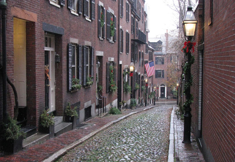Old street in Boston