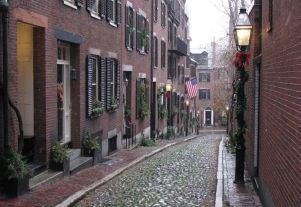 Old street in Boston