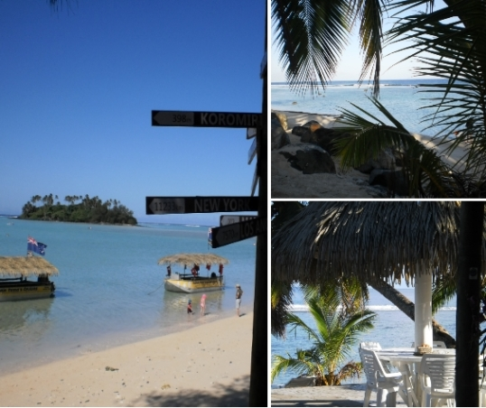 The hut boats at Captain Tama's Lagoon Cruizes, and views from our resort