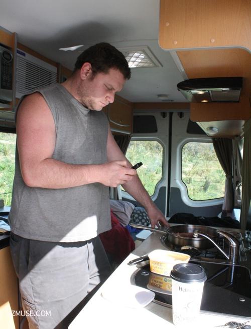 CAMPERVAN COOKING south island road trip campervan